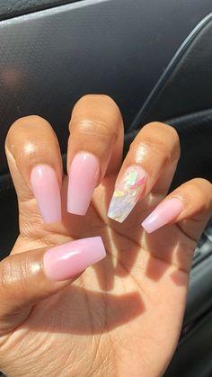 Summer nails are nails, nail designs, trendy nails.- Summer nails are nails, nail designs, trendy nails. Summer Acrylic Nails, Best Acrylic Nails, Acrylic Nail Designs For Summer, Simple Acrylic Nails, Acrylic Nail Shapes, Pink Acrylics, Aycrlic Nails, Hair And Nails, Coffin Nails