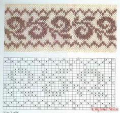 Ladies Cardigan Knitting Patterns, Knitted Mittens Pattern, Fair Isle Knitting Patterns, Knitting Charts, Baby Knitting Patterns, Knitting Stitches, Peyote Beading Patterns, Crochet Doily Patterns, Stitch Patterns