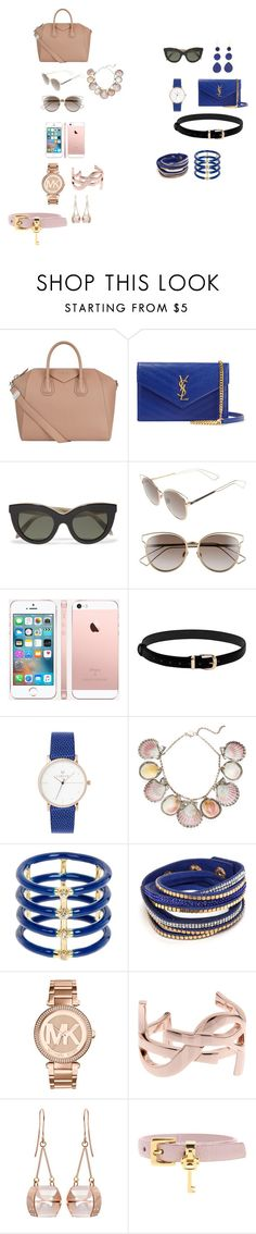 """Аксессуары для Полины"" by helenkraft17 on Polyvore featuring мода, Givenchy, Yves Saint Laurent, Victoria Beckham, Christian Dior, Paolo Costagli, Elizabeth and James, Michael Kors, Kattri и Miu Miu"