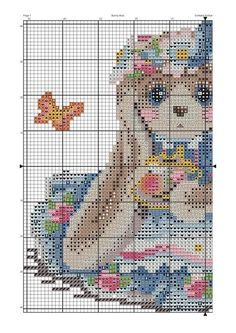 Cute Cross Stitch, Cross Stitch Animals, Cross Stitch Patterns, Fizzy Moon, Blue Nose Friends, C2c, Betty Boop, Bunny, Butterfly
