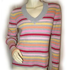 ST. JOHN'S BAY Womens Multi-Colored Stripes Long Sleeve Sweat SWEATER TOP $39.98  ... we sell more womens sweaters and winter clothes at http://www.tropicalfeel.com