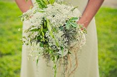 long cascading queen annes lace wildflower bridal bouquets - Google Search
