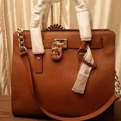 Mk Hamilton Handbag New  Large Tote  Brown  Authentic Coach Bags Shoulder Bags