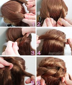 Steps to do a knotted bun