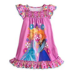 Disney Store Anna and Elsa Nightshirt for Girls 78 * More info could be found at the image url.