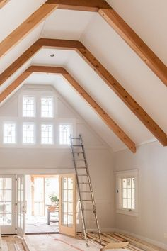 Soaring ceilings create volumes of space and beuty to the family room.