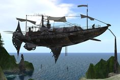 STEAMPUNK AIRSHIP. #steampunk #steampunkart http://www.pinterest.com/TheHitman14/artwork-steampunked/