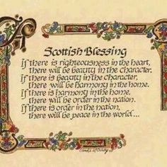 Scottish Blessing: found it, loved it and weaved it into a Queen Consort's coronation ceremony in one of my stories. Just because I wanted to! ;)