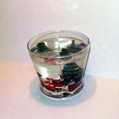 Christmas Scene Gel Candle