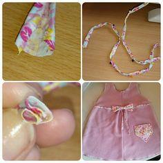 Sydde en kjole men manglet matchende båndt. Her er et lite forslag på hvordan man kan lage bånd til ting du syr som kan lages i samme stoff som andre detaljer for en mer helhet.#sy #diy #sew #fabric #stoff