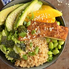 Everything is better with quinoa, including sushi! Try this Quinoa Sushi Bowl with Baked Tofu for a delicious vegetarian meal.