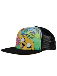 Adventure Time Characters Snapback Cap - NEW & OFFICIAL