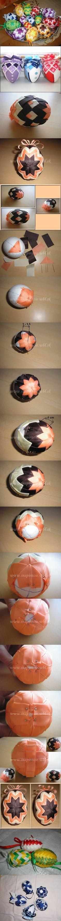 DIY Patchwork Decorated Easter Eggs | iCreativeIdeas.com Follow Us on Facebook --> https://www.facebook.com/icreativeideas