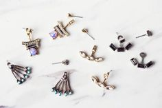 front back earrings Double Sided Earrings, Front Back Earrings, Earring Trends, Ear Jacket, Basic Outfits, Occasion Wear, Statement Jewelry, Bobby Pins, Cufflinks