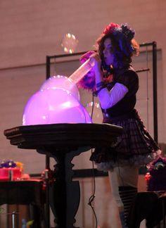 Bolle di sapone con il vapore, my bubble puppet show
