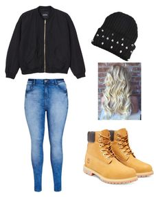 """""""street wear"""" by aero1blue on Polyvore featuring Monki, City Chic, Timberland, women's clothing, women, female, woman, misses and juniors"""