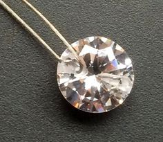 8mm Cubic Zirconia Drilled Loose Round Zircon 5 by gemsforjewels