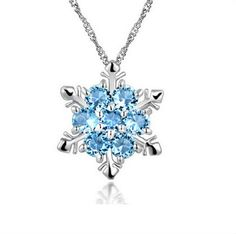 Frozen Crystal Snowflake Necklace
