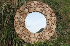 Driftwood Mirror,Drift Wood Mirror, Round Wooden Mirror,Natural Wood Mirror 90cm £220.00