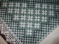 caminho de mesa bordado em tecido xadrez - Pesquisa Google
