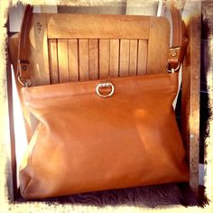 HONEY   ///     Leather 70s Shoulder Bag by Love4Retro on Etsy