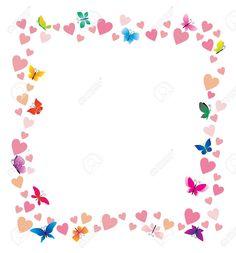 bordes y marcos con mariposas - Buscar con Google