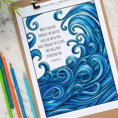 Words of Strength is an adult coloring book and devotional journal with 30 beautifully illustrated Bible Verses of hope, strength and encouragement for you to color. Bible Verse Coloring Page, Coloring Books, Coloring Tips, Coloring Sheets, Colouring, Helloween Party, Colored Pencil Techniques, Printable Adult Coloring Pages, White Pen