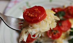filetto di orata in crosta di patate e pomodorini