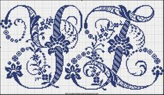 Free Easy Cross, Pattern Maker, PCStitch Charts + Free Historic Old Pattern Books: Sajou No 601 Blackwork Embroidery, Embroidery Alphabet, Embroidery Monogram, Cross Stitch Embroidery, Cross Stitch Designs, Stitch Patterns, Bordados E Cia, Cross Stitch Letters, Crochet Motif
