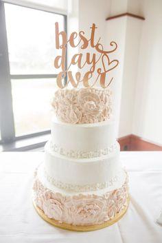 """Best Day Ever"" Wedding Cake Topper | LOVE TREE STUDIOS | http://knot.ly/6495BxhUB"