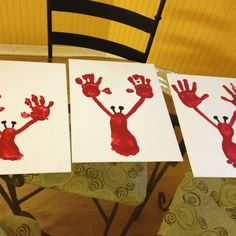 Fun summer craft! Maine studies, hand and foot print lobster.