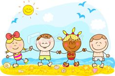 free summer pictures and quotes | stock-illustration-16627093-summer-holiday-children-holding-hands ...