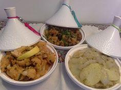 Salades marocain(partie 2)سلطات مغربية لمرافقة الاطباق الرئيسية/قرعة مشرملة/شيفلور مشرمل/بسباس مشرمل - YouTube
