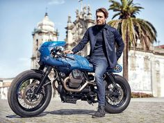 Moto Guzzi V7 Cafe Racer by Gannet Design, Wrench Kings y Vanguard Clothing. Una V7 personalizada para celebrar el 50 aniversario. Mira >>>