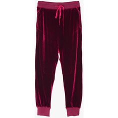 Velvet Sweatpants (8.865 RUB) ❤ liked on Polyvore featuring red