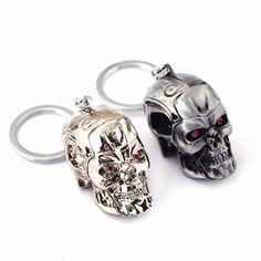 HSIC Merk Terminator Keychainsleutelring Driedimensionale Punk Sleutelhanger Cool Schedel Masker sleutelhangers Accessoires Cosplay HC11520