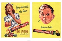 1950's Rowntree's Fruit Gums advertisements