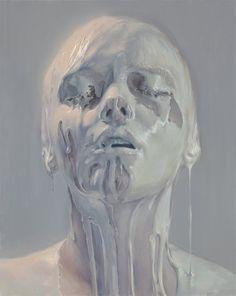 Pessoas cobertas com creme, chantili e outras sobremesas nas provocativas pinturas realistas de Ivan Alifan