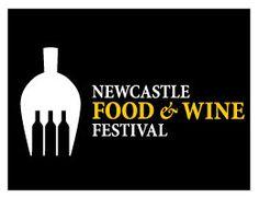 Negative space in logo design: Newcastle food & wine festival