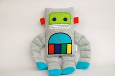 Gauge the Robot Plush by SnowMachine by Etsy by SnowMachine, $27.50 #robot #gifts