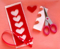 bookmark ideas | Wearing Your Hearts & A Heart Bookmark - Things to Make and Do, Crafts ...