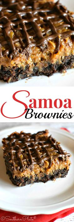 Samoa Brownies - These are AMAZING (and easy, too!) Love a Quick and Easy Brownie Recipe!