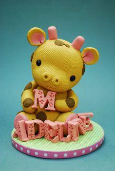 Giraffe cake topper - polymer clay