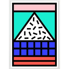 These prints have been created by Camille Walala exclusively for the WALALA IN DA HOUSE collection for London Design Festival 2015. The tribal POP A1 prints are sold unframed and part of a limited edition of 25 each signed by Camille.Giclée print on 308gsm Photo Rag paperLimited Edition 25 of Size: A1 (59.4 x 84cm).25 of Size: A2 (42 x 59.4cm).50 of Size: A3 (29.7 x 42cm).