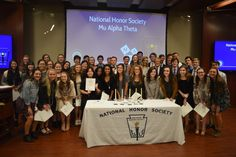 Congratulations to those students who were recently inducted into Mu Alpha Theta and the National Honor Society.