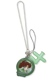 Sailor Moon Cell Phone Charm: Sailor Jupiter and Celestial Symbol Sailor Moon Jupiter, Sailor Moons, Sailor Moon Crystal, Jupiter Symbol, Gifts For Sailors, Anime Merchandise, Cell Phone Accessories, Great Gifts, Entertainment