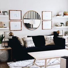Textured prints and pops of gold, take a @liketoknow.it.home tip on cozy chic living room decor a la @ohmydearblog | Get ready-to-shop #LTKhome details by taking a screenshot or 'like' this pic with the LIKEtoKNOW.it app | #liketkit