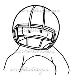 $3.00 Brrr Football Digital Stamp  (http://buyscribblesdesigns.blogspot.ca/2013/02/210-brrr-fball-200.html) digital stamps, digis, scribbles designs, football, penguin