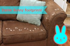 Easter Bunny Footprints - Perfect for Easter Morning #easter #Bunny #footprints