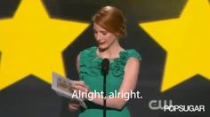 Pin for Later: 10 Quintessential Moments From Last Year's Critics' Choice Awards Jessica Chastain Did a Matthew McConaughey Impression, Too